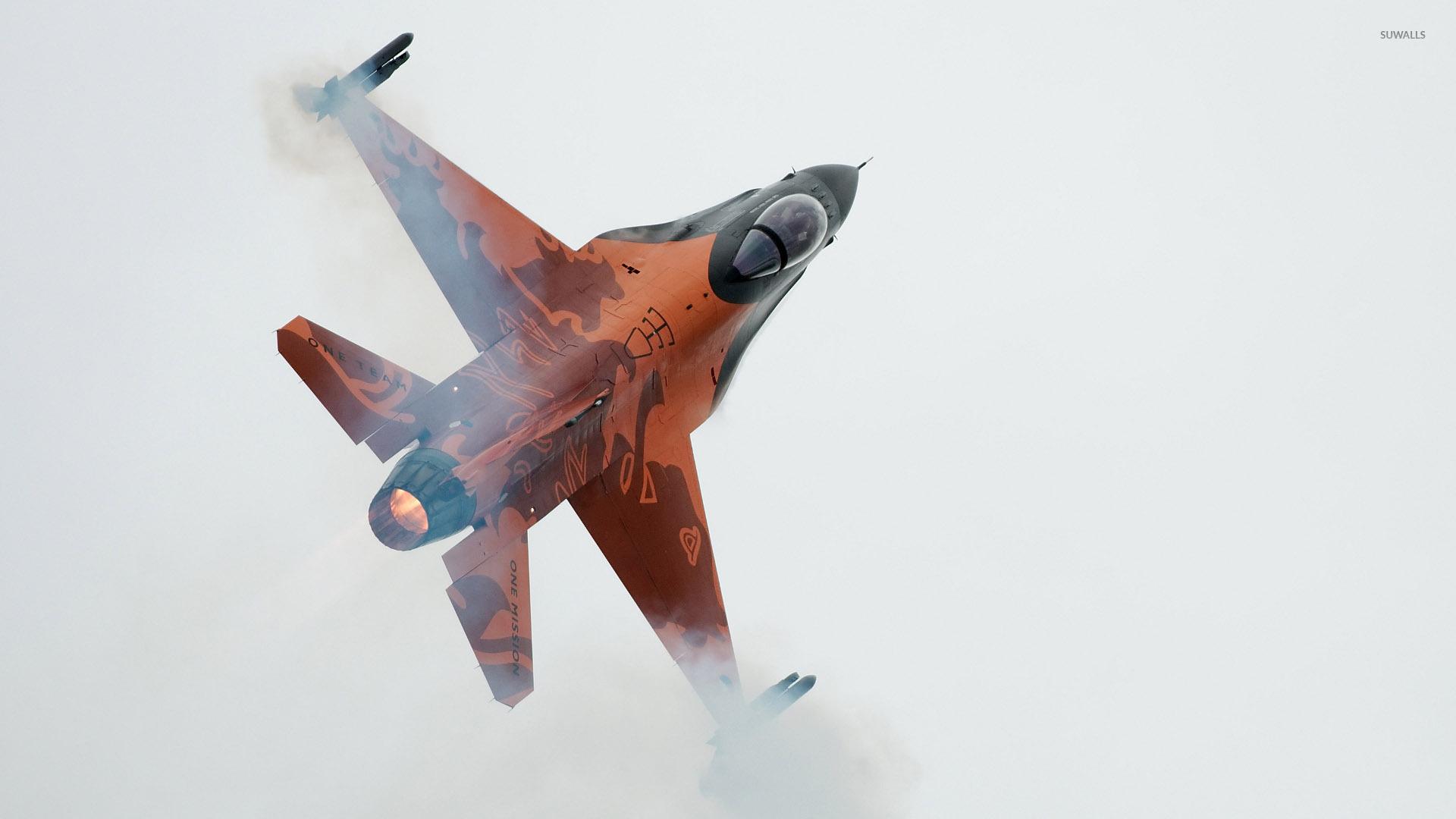 авиация самолет желтый F-16 Fighting Falcon  № 3755525 бесплатно