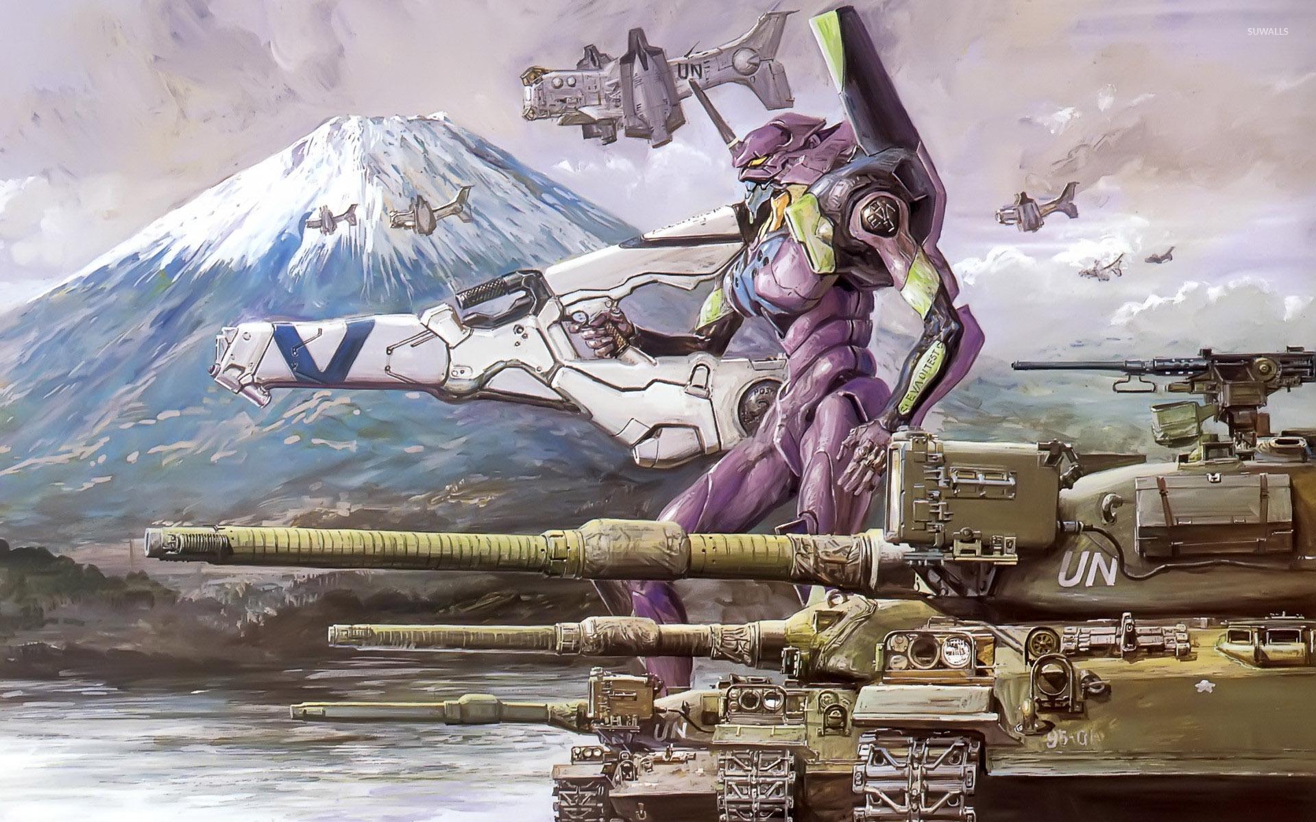 エヴァンゲリオンと戦車