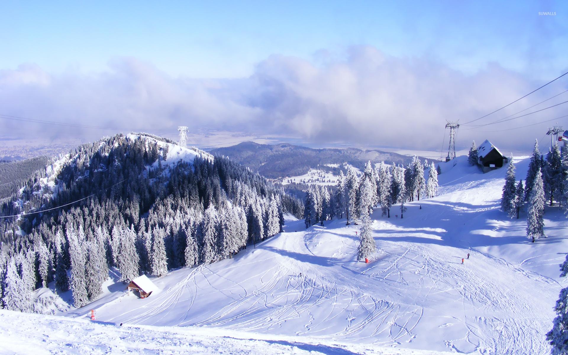 Снег на горных склонах  № 2944961  скачать