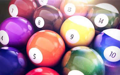 Billiard balls wallpaper