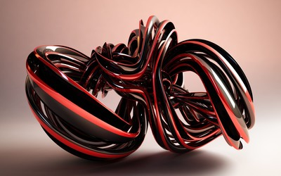 Black and red glass shape wallpaper