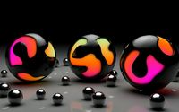 Black paint imprisoning the colorful balls wallpaper 1920x1200 jpg