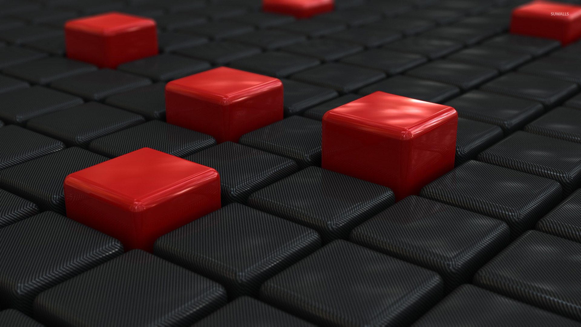 Black red cubes wallpaper 3d wallpapers 16687 for 3d wallpaper red