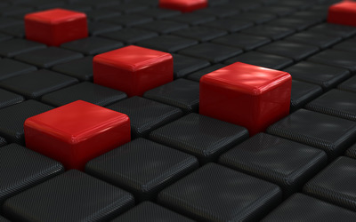 Black & Red Cubes wallpaper