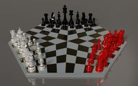 Black, white and red chess pieces wallpaper 1920x1200 jpg