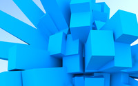 Blue cubes wallpaper 1920x1200 jpg