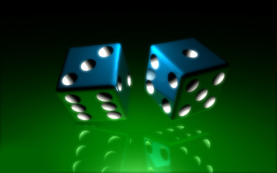 Blue dice Wallpaper
