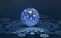Blue fractal ball wallpaper 1920x1200 jpg