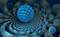 Blue fractal orbs wallpaper 1920x1200 jpg