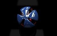 Blue shield protecting the black ball wallpaper 2560x1600 jpg
