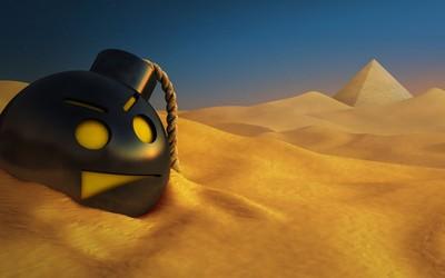 Bomb in the desert wallpaper