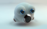 Bubble robot head wallpaper 2560x1600 jpg