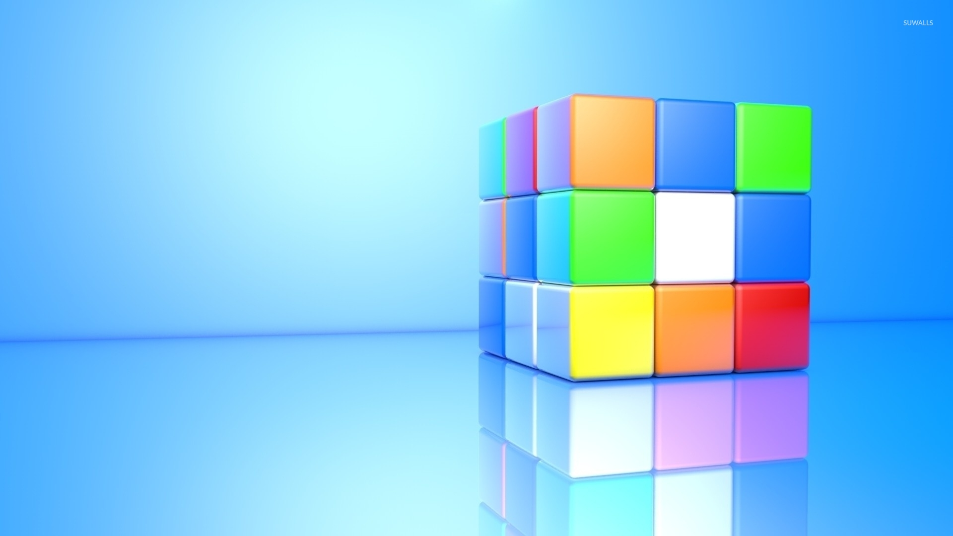 Colorful 3D Rubiks Cube Wallpaper