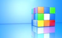 Colorful 3D Rubik's Cube wallpaper 1920x1080 jpg