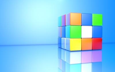 Colorful 3D Rubik's Cube wallpaper