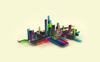 Colorful city wallpaper 1920x1200 jpg