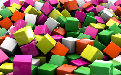 Colorful cubes wallpaper