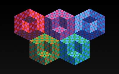 Colorful cubes [4] wallpaper