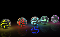 Colorful disco balls on the ground wallpaper 2560x1440 jpg