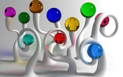 Colorful glass balls wallpaper