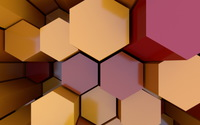 Colorful honeycomb assembly wallpaper 1920x1080 jpg