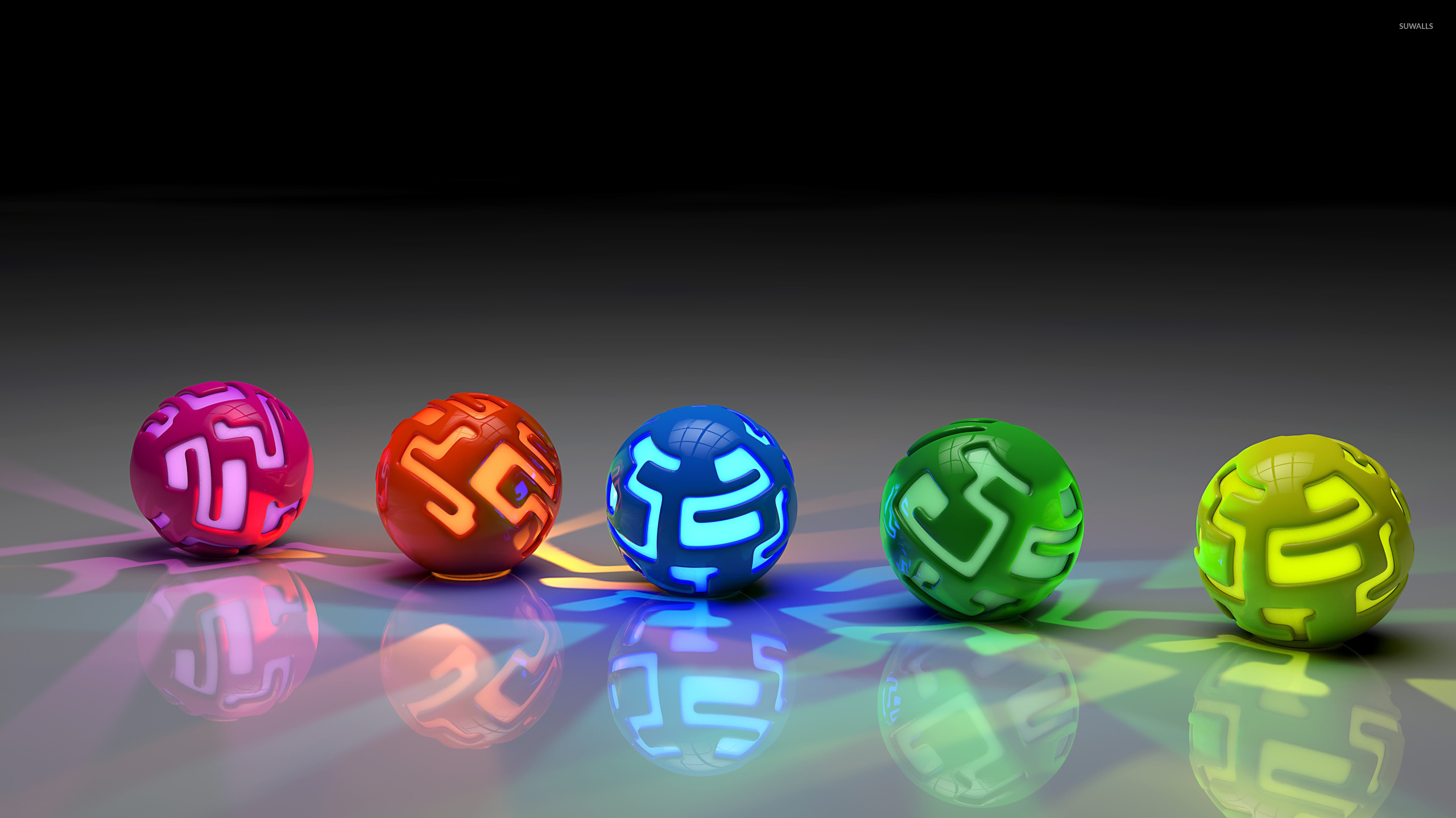 Colorful Lit Orbs On The Ground Wallpaper 3d Wallpapers HD Wallpapers Download Free Images Wallpaper [1000image.com]