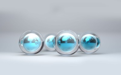 Crystal spheres wallpaper