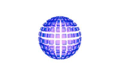 Cube glass orb wallpaper