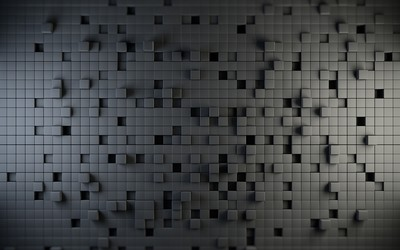 Cube wall wallpaper