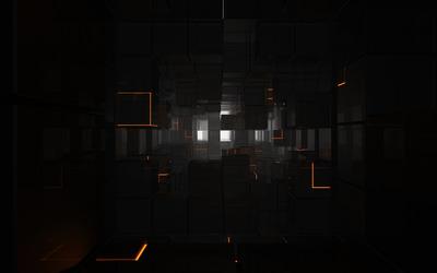 Cubes in the tunnel wallpaper