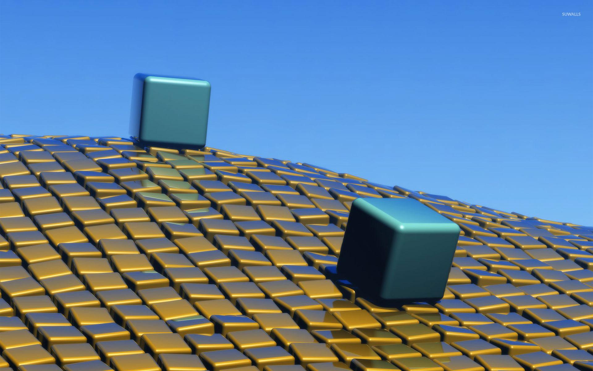 Cubes on wavy cube floor wallpaper 3d wallpapers 24207 for 3d wallpaper for home floor