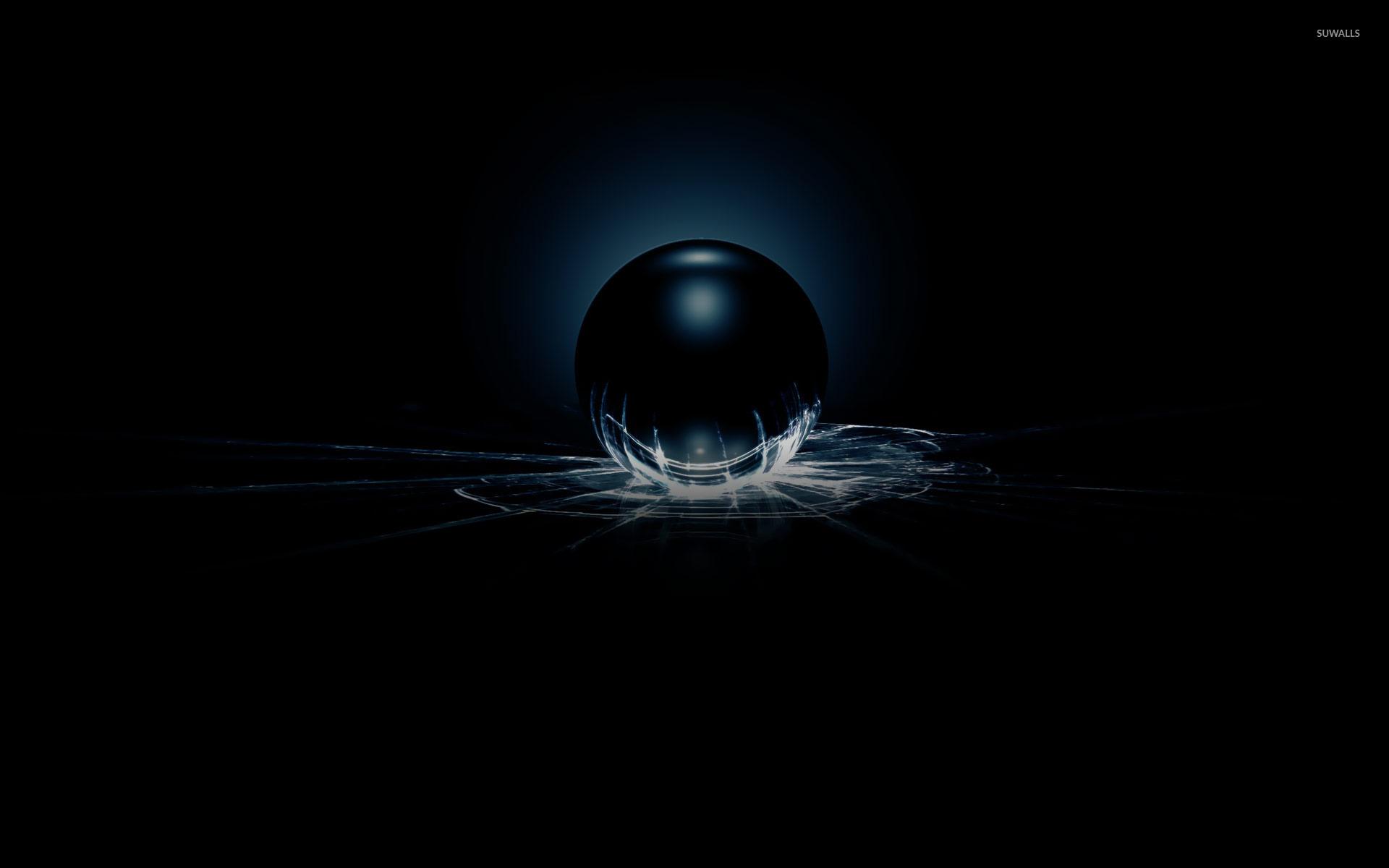 Dark Sphere Smashing The Glass Wallpaper 3d Wallpapers