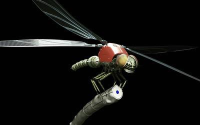 Dragonfly robot wallpaper