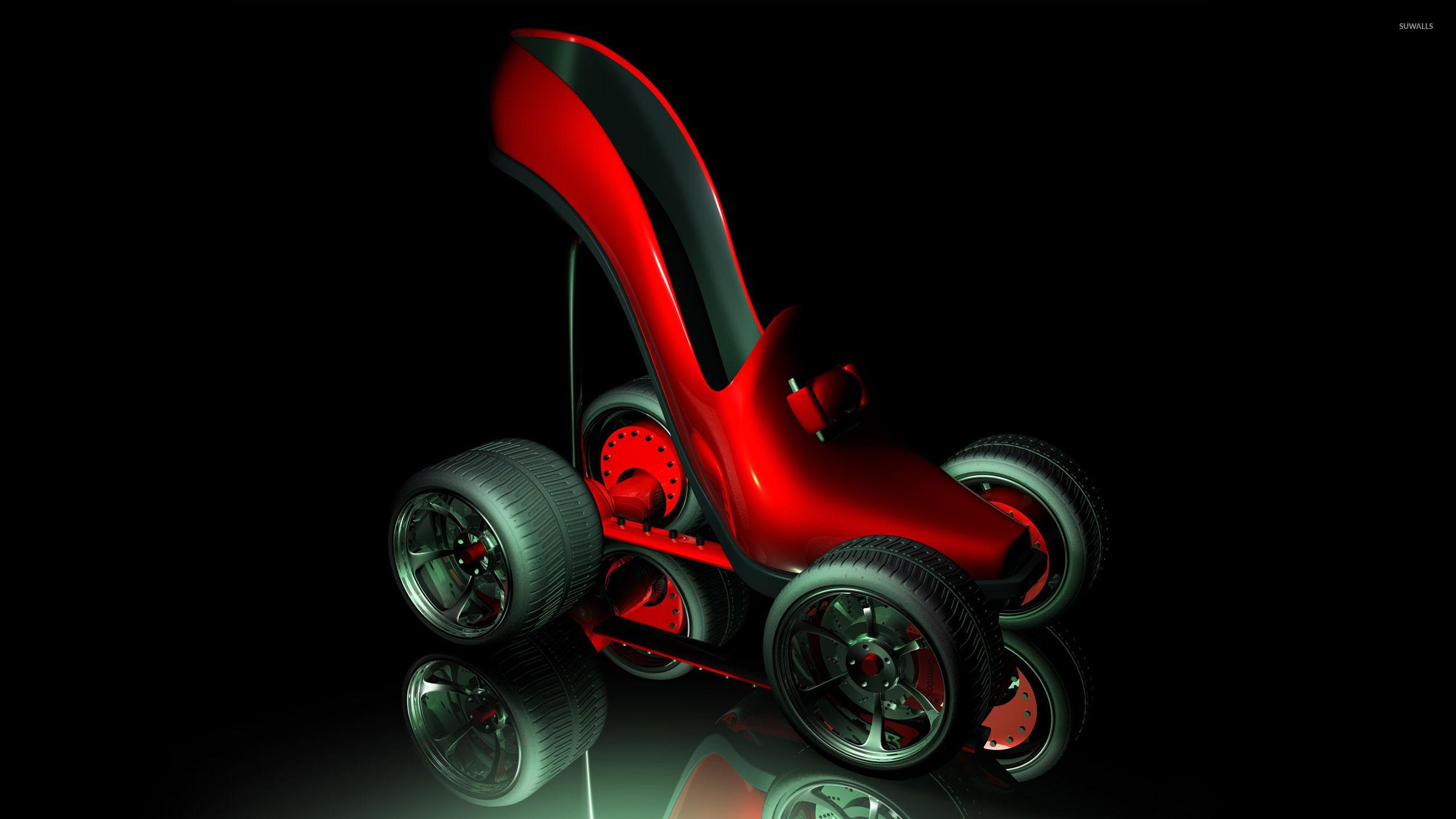 Fancy roller skates wallpaper