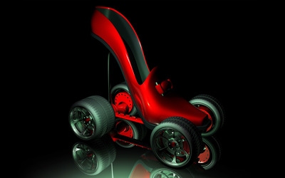 Fancy roller skates wallpaper