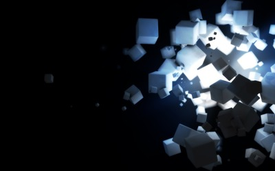 Floating cubes [3] wallpaper