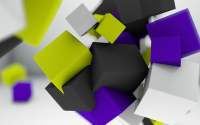 Floating cubes [2] wallpaper
