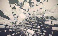 Floating white cuboids wallpaper 1920x1200 jpg