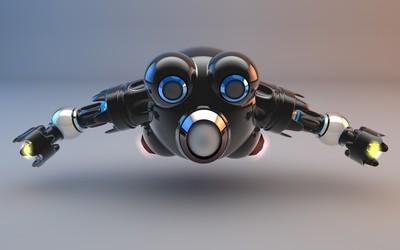 Flying robot wallpaper