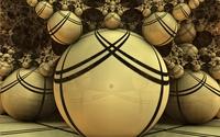 Fractal balls wallpaper 2560x1600 jpg