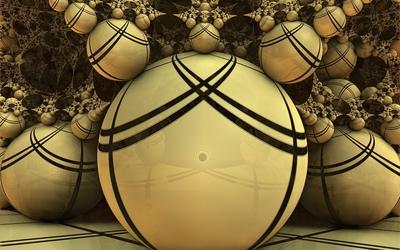 Fractal balls wallpaper