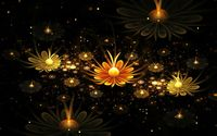 Fractal glowing daisies wallpaper 1920x1080 jpg