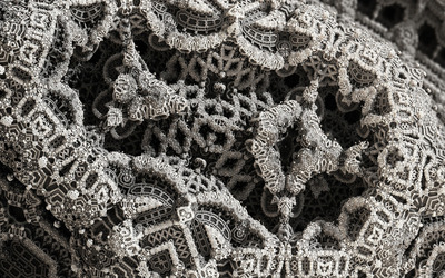 Fractal lace wallpaper