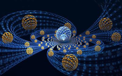 Fractal spheres and tubes wallpaper