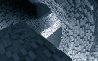 Giant room of cuboids wallpaper 1920x1080 jpg