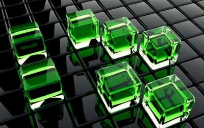 Glass cubes wallpaper
