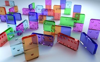 Glass dominoes wallpaper