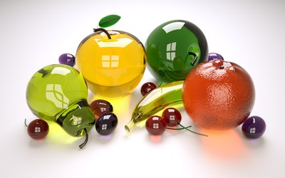 Glass fruit [3] wallpaper