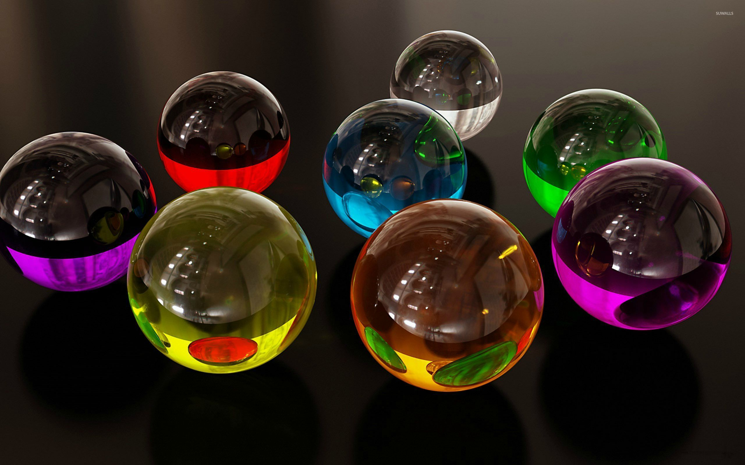 Glass marbles wallpaper 3d wallpapers 27205 for 3d marble wallpaper