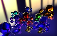 Glass molecules wallpaper 1920x1200 jpg